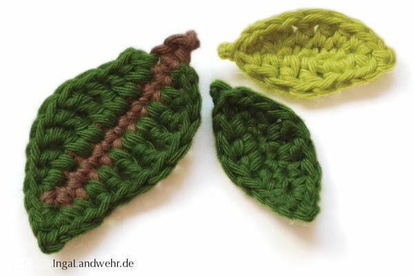 Blätter häkeln in 2 Größen – Häkelanleitung