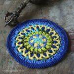 Agni-Mandala in blau