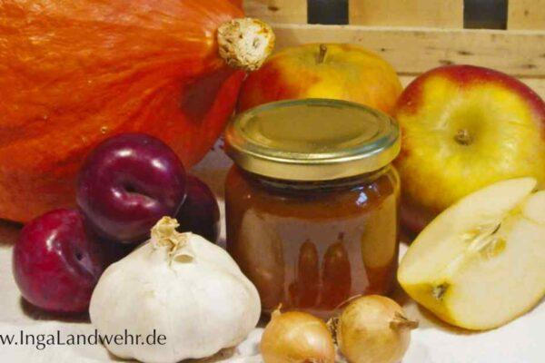 Pflaumen-Kürbis-Chutney – ein Rezept von Frau Inga