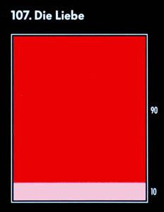 """Farbkarte für die Assoziation mit dem Begriff """"die Liebe"""": rot, rosa"""