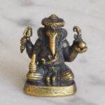 Kleine Bronzefigur von Ganesh