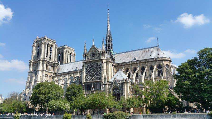 Notre Dame in Paris am Ufer der Seine