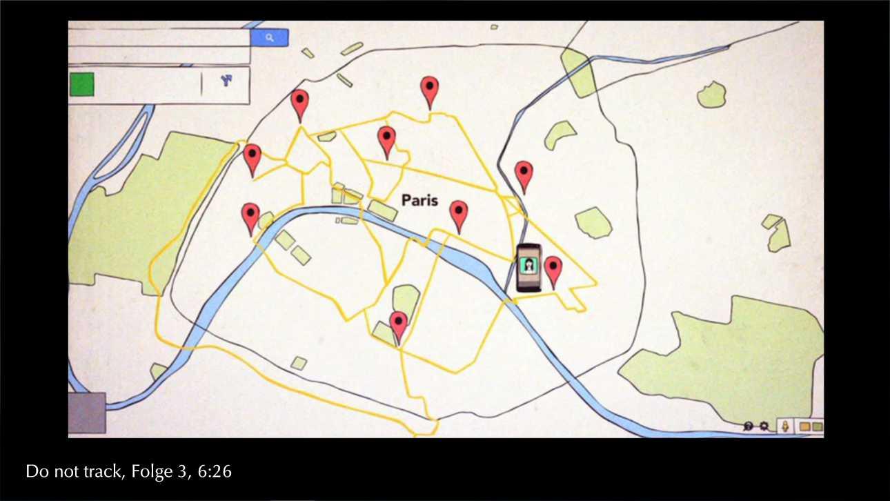 grafische Darstellung eines Bewegungsprofils, Screenshot